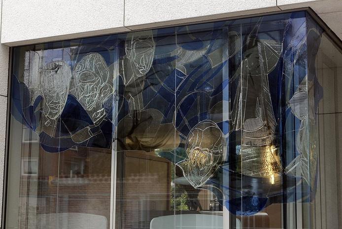 Detail van het gezondheidscentrum in Deventer. Foto Ab Hakeboom