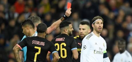 Sergio Ramos met vierde rode kaart in CL naast Zlatan en Davids