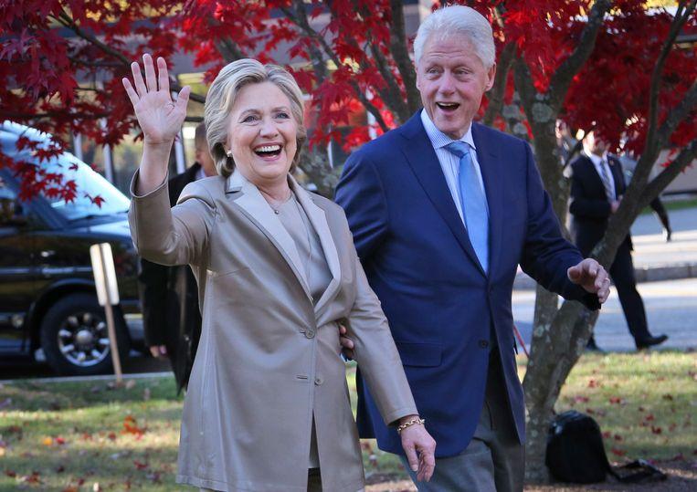 Hillary Clinton samen met haar man Bill Clinton.