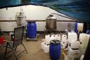 Een laboratorium voor synthetische drugs.
