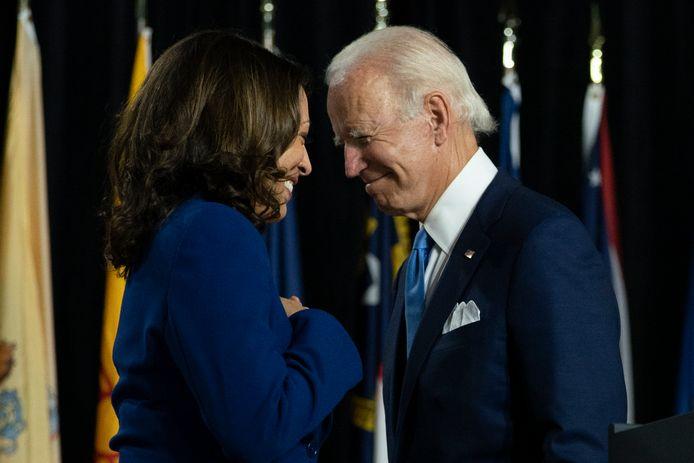 Kamala Harris en Joe Biden