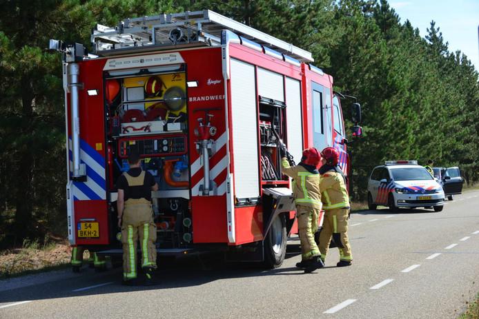 Natuurbrand in Maarheeze snel onder controle