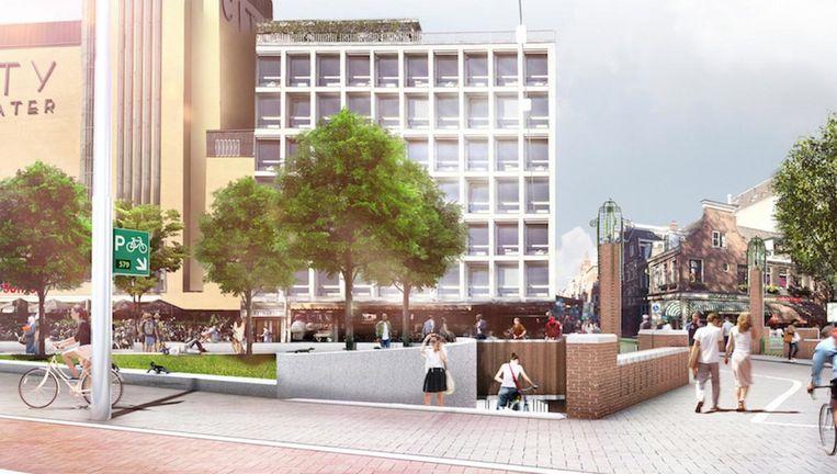 Impressie van de situatie in 2021 Beeld ZJAZwarts&Jansma Architecten