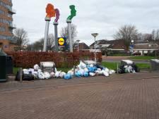 Bakken voor plastic in Goes zitten overvol door kapotte ophaalwagen