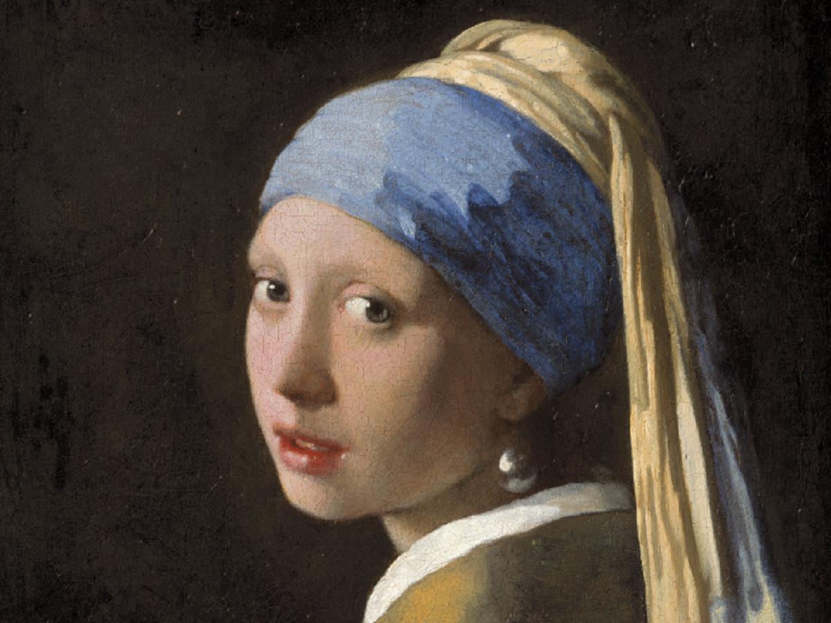 Het bekende werk Het meisje met de parel van Johannes Vermeer is te bewonderen in het Mauritshuis.