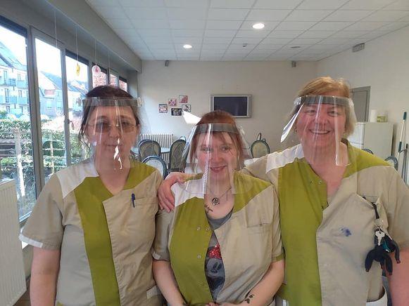 Blije gezichten bij het personeel na de tests.