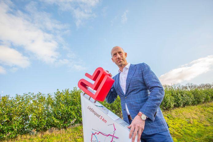 Bert van Zijtveld van de Stichting Het Liefdespad ziet zijn wens op 14 februari eindelijk uitkomen. ,,Het traject was langer en ingewikkelder dan we hadden gedacht. Het rondkrijgen van vergunningen en subsidies kostte veel tijd.''