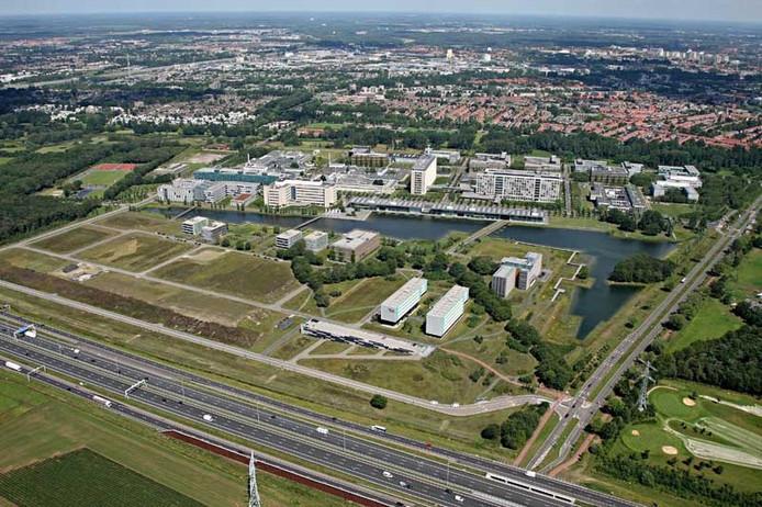 Luchtfoto High Tech Campus Eindhoven juli 2011. foto Ronald Otter