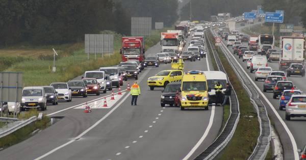 File na ongeluk met drie autos op A59 bij Waspik.