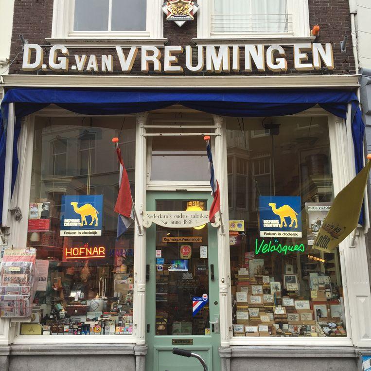 De oudste tabakswinkel van Nederland nadert het einde Beeld