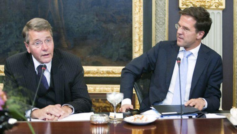 Minister Donner en premier Mark Rutte. ©Werry Crone Beeld