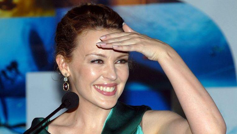 De 41-jarige Kylie Minogue gaat Super Trouper zingen in het Londense Hyde Park. Foto EPA Beeld