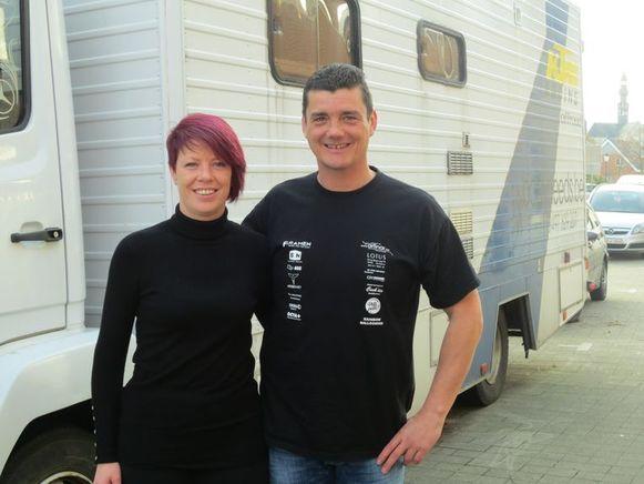 Marco Dessers en Tanja Pacolet van het MX team Zoutleeuw hopen op veel volk.