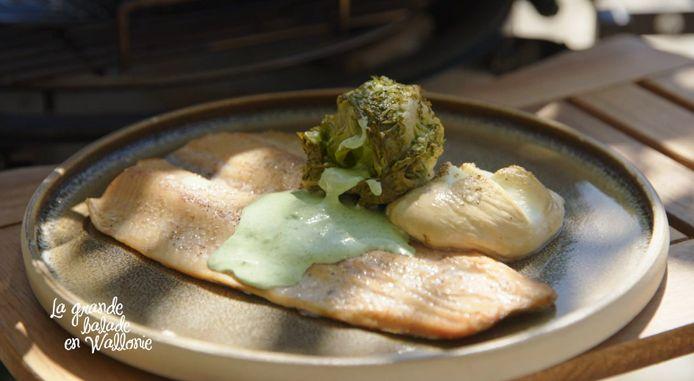 Julien a partagé sa recette de la truite cuite à basse température.