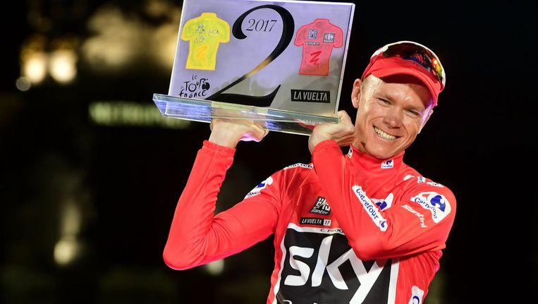 Chris Froome viert zijn Vuelta-overwinning Beeld anp