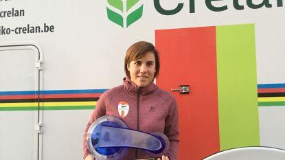 Sanne Cant wint als eerste veldrijdster ooit de Kristallen Fiets