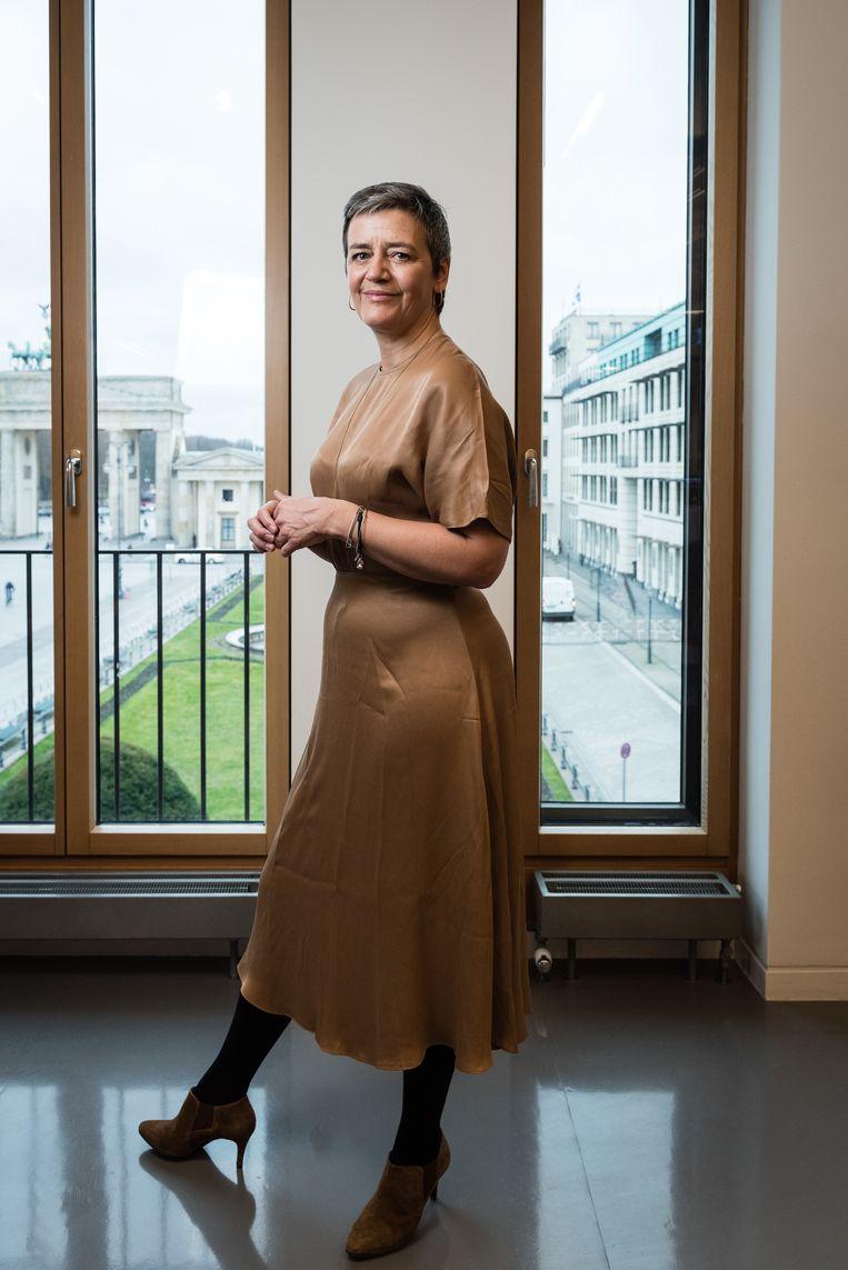 Eurocommissaris Margrethe Vestager. Beeld Bloomberg via Getty Images