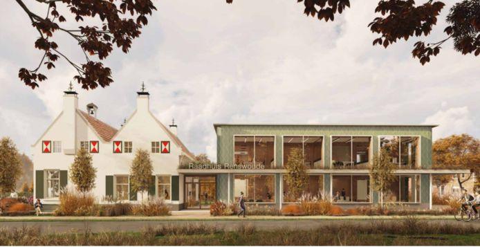 Impressie van het nieuwe gemeentehuis van Renswoude.