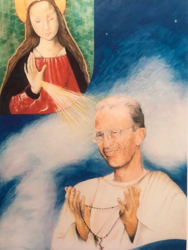 Koning Fabiola vroeg aan Luc om haar man te schilderen zoals hij er in de hemel zou uitzien.