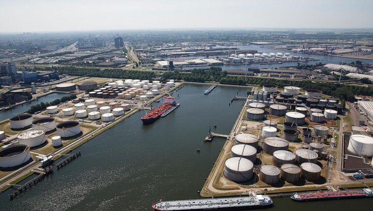 Luchtfoto van de Amsterdamse haven Beeld anp