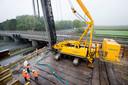 OOSTERHOUT - De bouwplaats naast de Bovensteweg waar de N629 word aangelegd.