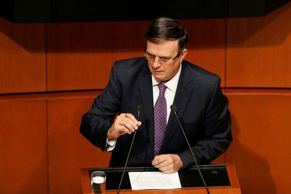 De Mexicaanse minister van Buitenlandse Zaken Marcelo Ebrard.