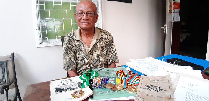 Fred van Russel (89), Surinaamse oorlogsveteraan (Korea) en voorzitter van de Federatie Oud-Strijders en Exc-mIlitairen in Suriname