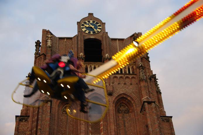 Kermis in het centrum van Wijk bij Duurstede.