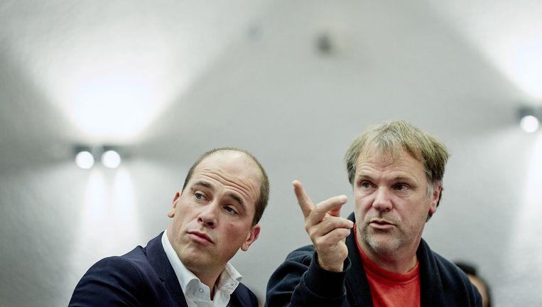 PvdA-leider Diederik Samsom (L) en voorzitter Hans Spekman. Beeld anp