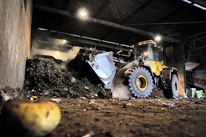 De compostfabriek van Attero op industrieterrein Moerdijk.