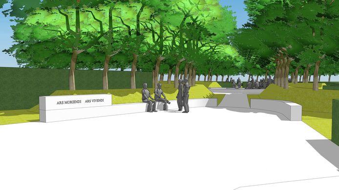 Hoe een deel van de begraafplaats er moet uitzien
