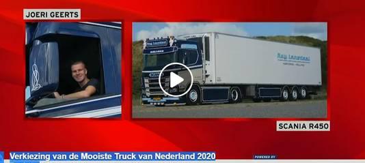 Joeri Geerts uit Den Bosch was met zijn Scania genomineerd in de categorie 'geconditioneerd vervoer'. Hij werd tweede van de drie genomineerden.