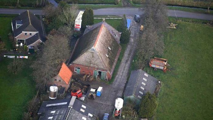 Luchtfoto van de boerderij van Jasper S.