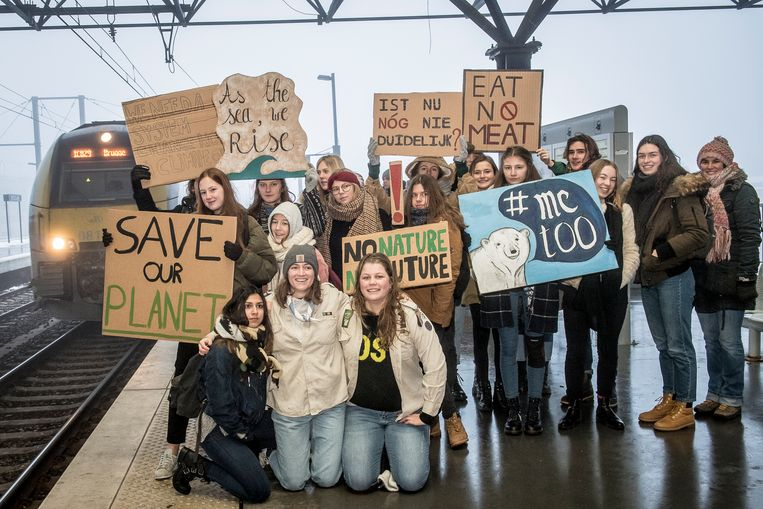 Ook vanuit Roeselare trokken al spijbelende jongeren naar de klimaatmarsen.