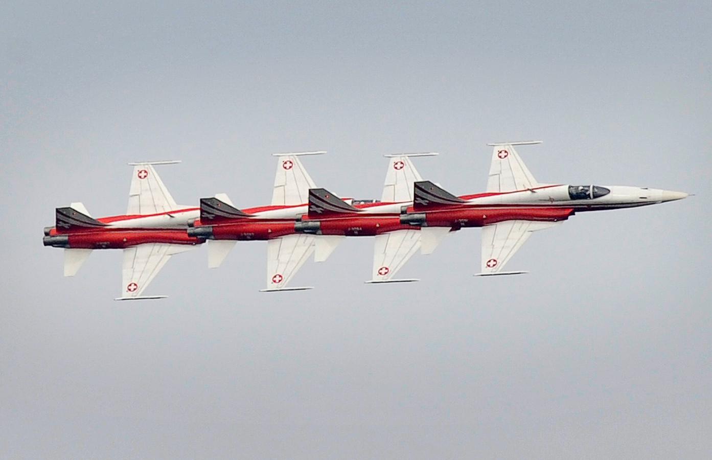 Vandaag en morgen wordt er boven Volkel al volop geoefend voor de Luchtmachtdagen.