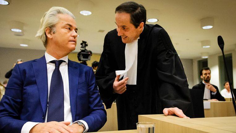 Geert Wilders eerder in de rechtbank. Beeld null