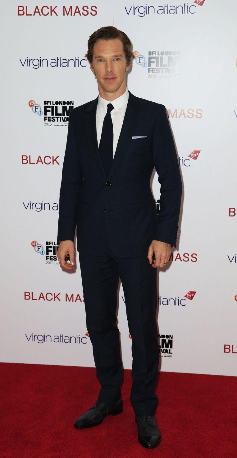 Benedict Cumberbatch is het zat om gefilmd te worden als hij op het podium staat. Beeld photo_news
