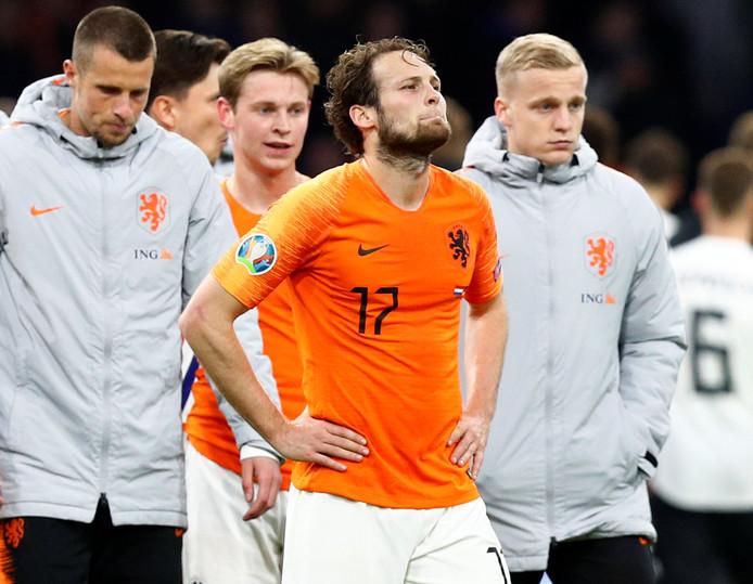 Daley Blind baalt temidden van zijn Oranje-companen.