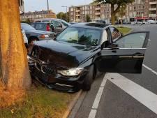 Auto knalt tegen boom, geschrokken bestuurster meldt zich later