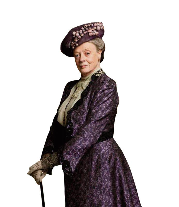 Maggie Smith in Downton Abbey.