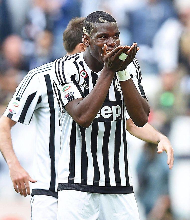 Middenvelder Paul Pogba zorgde voor de tweede treffer van Juventus. Beeld epa