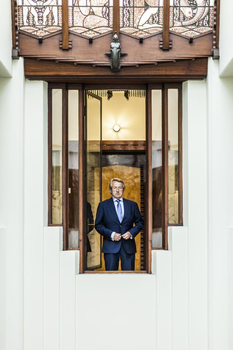 Hotelier Giovanni van Eijl in het voormalige Scheepvaarthuis Beeld Rachel Dubbe