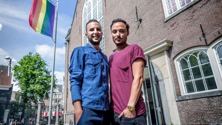Illias Zian en Chris Belloni van de Marrokaanse boot Beeld Rink Hof