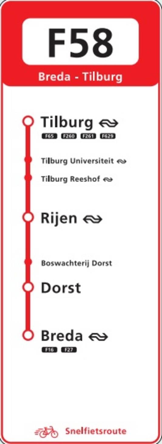 UIt intentieverklaring tussen gemeenten Breda, Oosterhout, Gilze en Rijen, Tilburg en provincie Noord-Brabant over de aanleg van een snelfietspad tussen Breda en Tilburg.