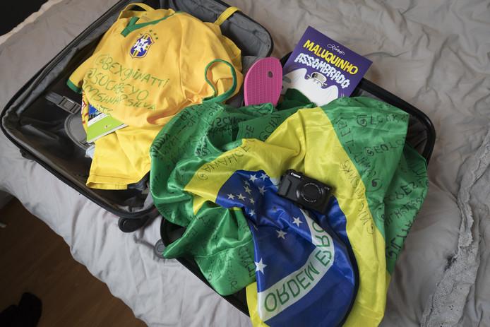 Nienke heeft haar koffer vol Braziliaanse souvenirs nog niet eens uitgepakt, maar moet al weer naar school.
