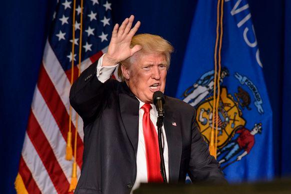 Donald Trump tijdens zijn campagne in augustus 2016.