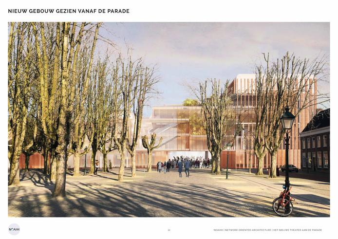 Het laatste ontwerp nieuw Theater aan de Parade in Den Bosch.