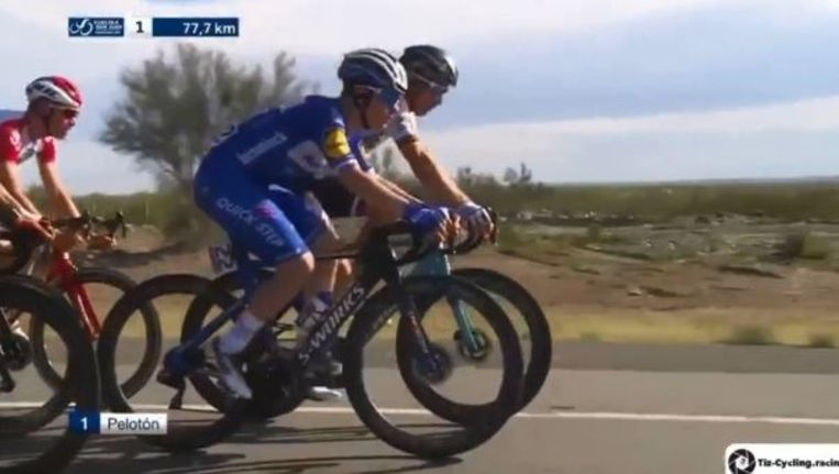 Evenepoel naast Sagan bij zijn debuut in San Juan.