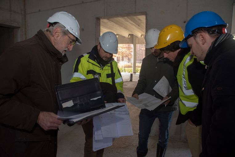 Plaatsbezoek aan het nieuwe Cultuurhuis in Merelbeke.