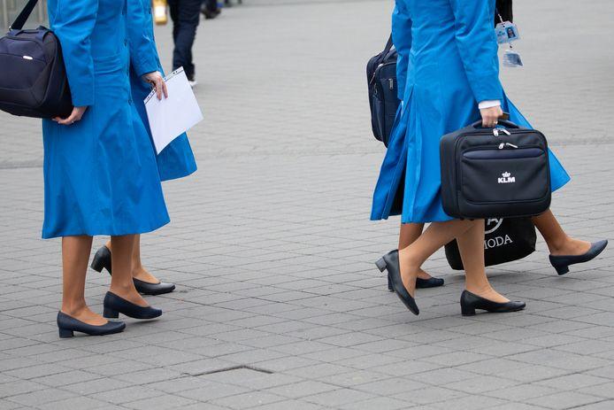 Stewardessen van KLM. Foto ter illustratie.